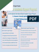 international 2018 academic support program