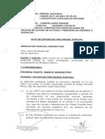 Resolución de detención preliminar judicial contra Keiko Fujimori.