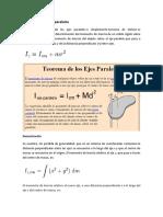 Teorema de Los Ejes Paralelos