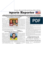 October 10 - 16, 2018  Sports Reporter