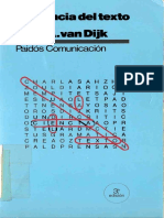 Teun a Van Dijk - La Ciencia Del Texto