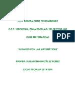 Club Jugando Con Las Matematicas