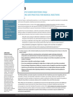 FAQs Safe Practices for Medical Injections