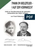 Reitemeyer, Frank - Kritik an der neuübersetzten Geheimlehre