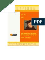 Teología y cultura, Presentacion Vol 19