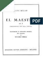 MILAN Luys El Maestro Vol 1-2 Transc Chiesa Guitar