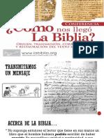 Como Nos Llego La Biblia