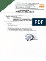 Pengumuman Sipenmaru Jalur Uji Tulis 2015