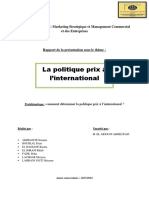 Rapport MI Politique Prix FINAL