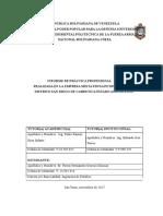 Informe de La Practica Profesional de La Pasante Genesis Glismar Porras Hernandez Ci. 24.845.416