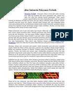 Poker Online Indonesia Pelayanan Terbaik | Gogopoker99