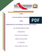 Monografia de Los Animales en El Mundo Andino