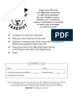 Tailgate Take Out Flyer