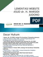 implementasi website rsud