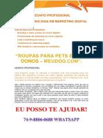 Roupas Para Pets e Seus Donos – MeuDog.com Marketig Digital 3 e 4