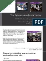 Tes Potensi Akademik Online2 Fast Respon Call, Sms, WA