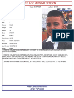 10 OCT 18 - Missing - Damian Gallegos