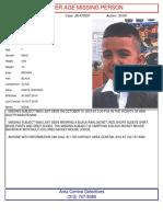 10 OCT 18 - Missing - Damian Gallegos