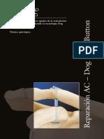 Estabilizacin de Lesiones Agudas de La Articulacin Acromioclavicular Empleando La Tecnologa Dog Bone Button