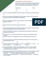 Segundo Examen Parcial de Quimica ,ING.DANIEL VERGARA
