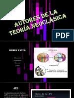 Autores de La Teoría Neoclásica