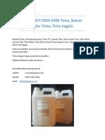 T-sel 0857-5903-5408 Tinta, Bahan Baku Tinta, Tinta Inggris