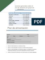 Plan Dietetico Semanal