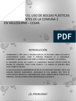 Desincentivar El Uso de Bolsas Plásticas