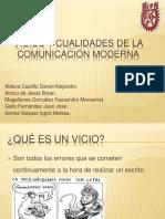Vicios y Cualidades de La Comunicación Escrita