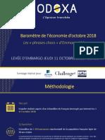 Baromètre de l'économie Odoxa