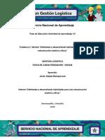 """Evidencia 3 Informe """"Definiendo y Desarrollando Habilidades Para Una Comunicación Asertiva y Eficaz"""""""