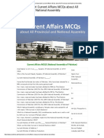 Most Important Current Affairs MCQs About All Provincial and National Assembly