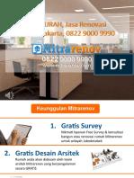 TERMURAH, Jasa Renovasi Kantor Jakarta, 0822 9000 9990
