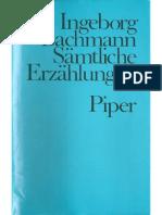 Bachmann - 1980 Sämtliche Erzählungen (Gesammelte Werke Band II)