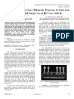 Bio-Degradable Versus Titanium Fixation in Oral and Maxillofacial Surgeries-A Review Article
