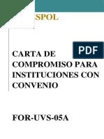 Carta Compromiso Instituciones Conconvenio