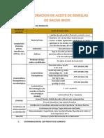 Elaboracion de Aceite de Semillas de Sacha Inchi
