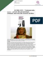 """Books and the city """"I labirinti della mente"""""""