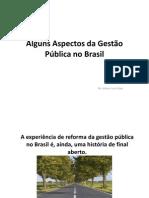 Alguns Aspectos da Gestão Pública no Brasil 2010 VF