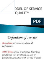 Gap Model of Service Quality.