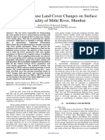 Effects of Land use Land Cover Changes on Surface Water Quality of Mithi River, Mumbai