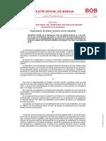 SECCIÓN I ADMINISTRACIÓN FORAL DEL TERRITORIO HISTÓRICO DE BIZKAIA Diputación Foral de Bizkaia
