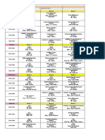 Time Table Fall 2010