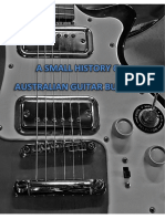 A Small History of Australian Guitar Building DRAFT