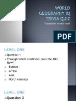 World Geography IQ Trivia Quiz