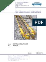Geismar Tensor Hidráulico TH 120 SVL Manual e Certificado CE