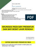Imunisasi Pada Bayi Prematur