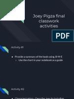 joey pigza final activities