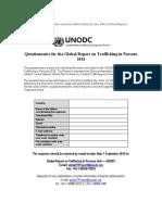 UNODC Questionnaire 2016