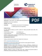 Curso Internacional de Herramientas Metodológicas Para Presentaciones y Capacitaciones Efectivas